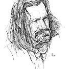 Western ink portrait by llawrence