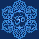 Blue Lotus Flower Yoga Om von jeff bartels
