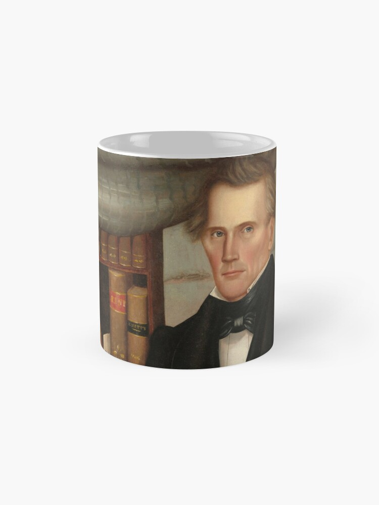 Alternate view of Vermont Lawyer Oil Painting by Horace Bundy Mug