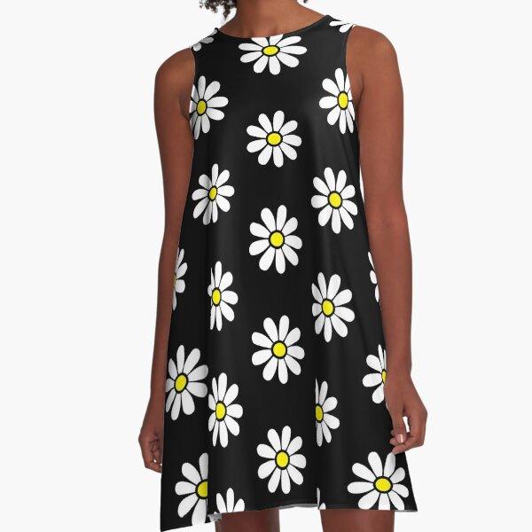 Happy Daisy Flower Power 60's 70s Retro Vintage Hippie Gardening  A-Line Dress