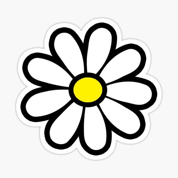 Happy Daisy Flower Power 60's 70s Retro Vintage Hippie Gardening  Sticker