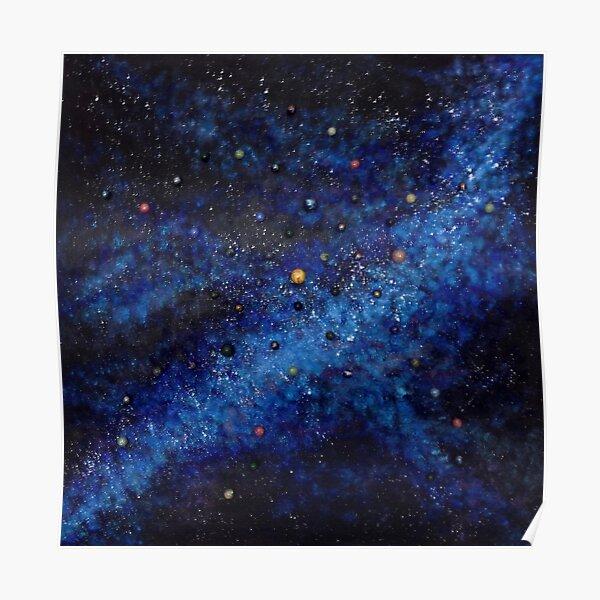 Space universe galaxy I am Here awakening Poster