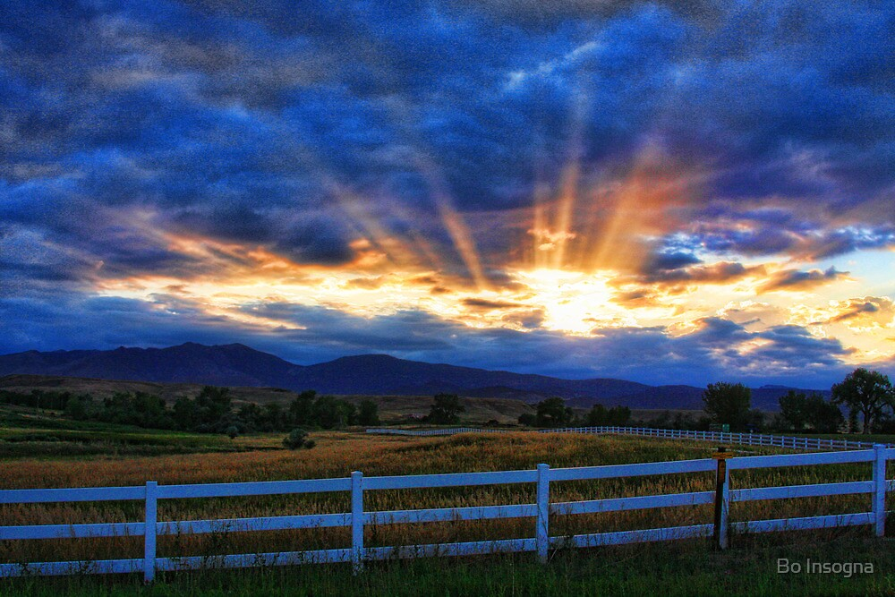 Quot Country Landscape With Sun Beams At Sunset Quot By Bo Insogna