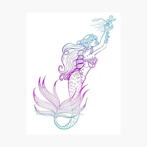 Chasing the Jellyfish Photographic Print