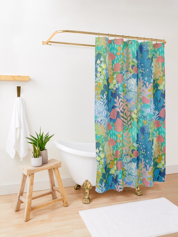 Alternate view of End of the Rainbow Shower Curtain