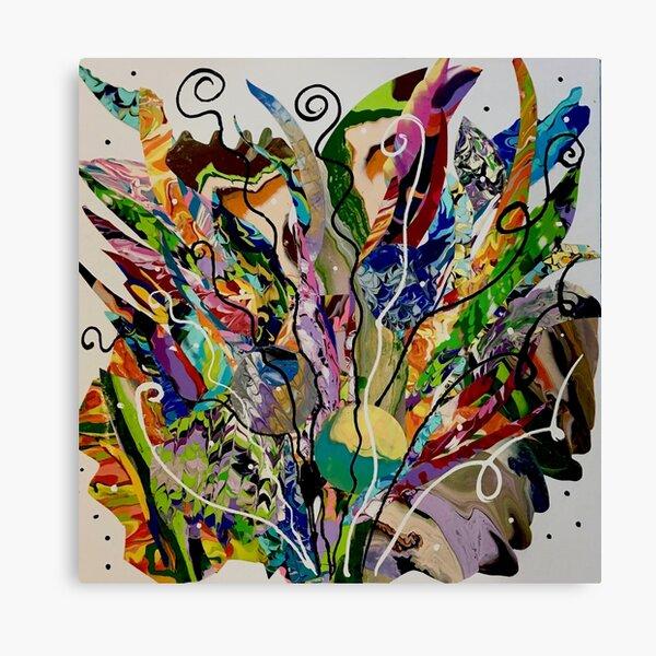 Color splash flower Feelings nature fantasy Canvas Print