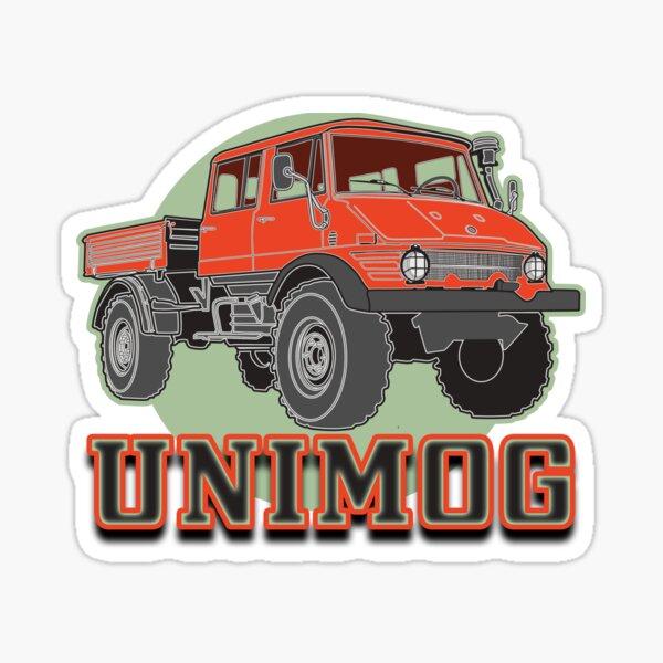 Unimog Orange Geländewagen Sticker