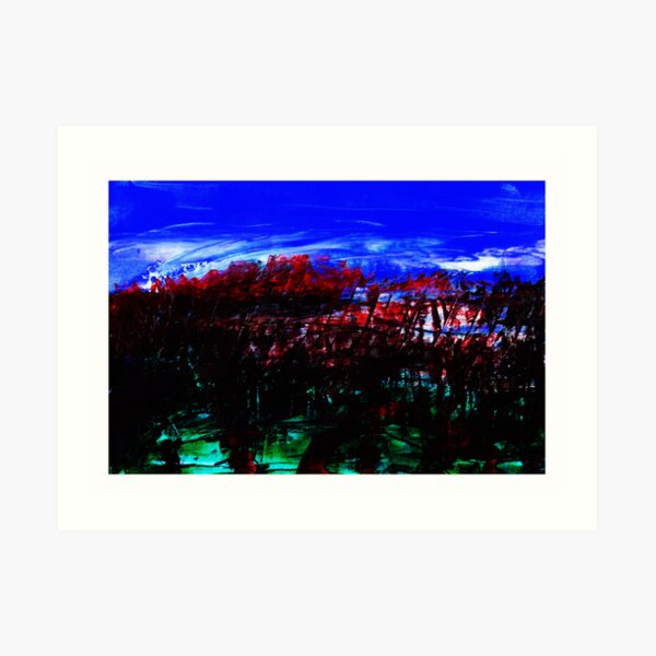 Blood Red Trees Art Print