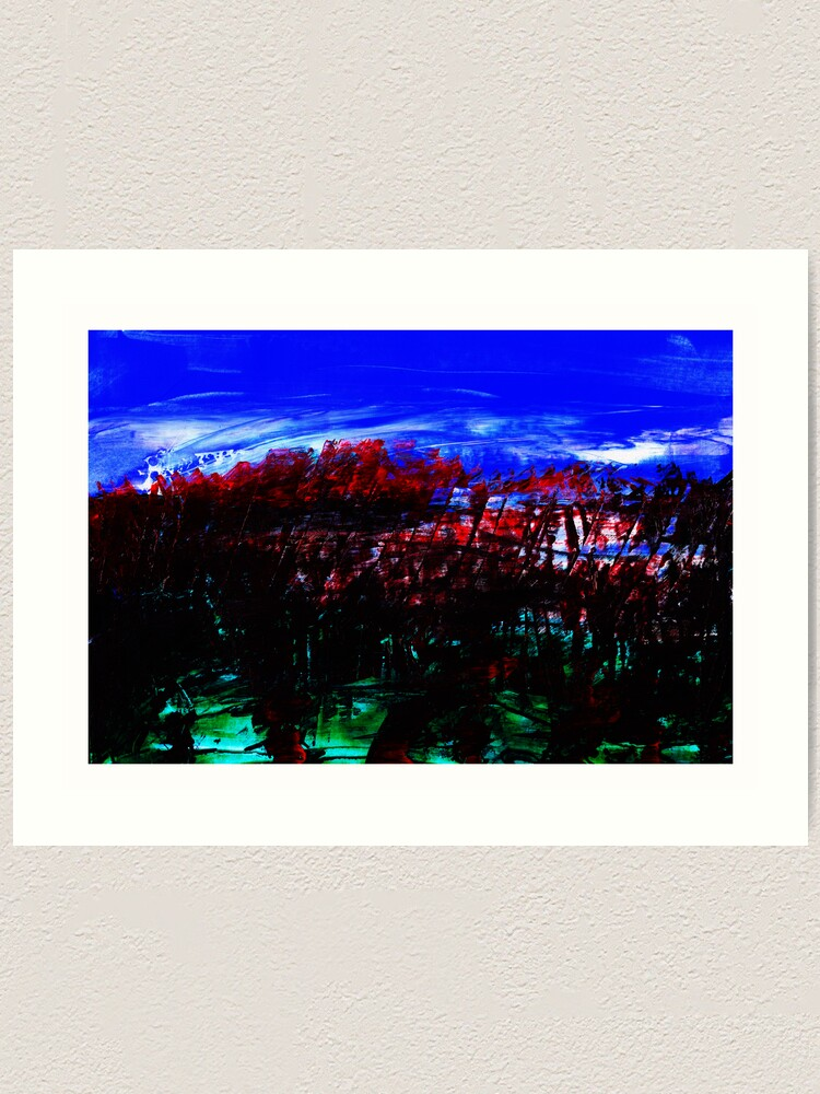 Alternate view of Blood Red Trees Art Print