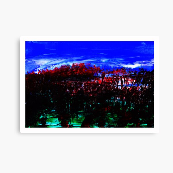 Blood Red Trees Canvas Print