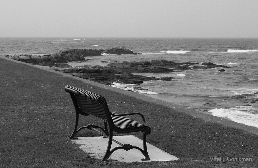 Romantic bench near the ocean by Vitaliy Gonikman