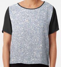 Silver Metallic Sparkly Glitter  Chiffon Top