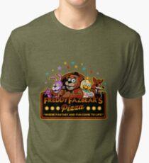 Five Nights at Freddy's Freddy Fazbear's Pizza FNAF logo Tri-blend T-Shirt
