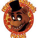 FNAF Freddy Fazbear Logo Fazbear's Pizza by Jacob King
