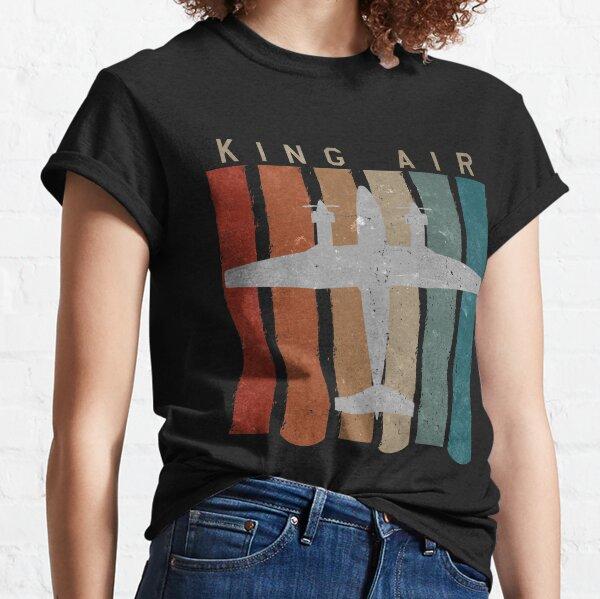 King Air Airplane Retro Vintage Airplane Pilot  Classic T-Shirt