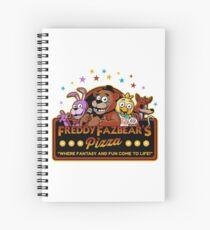 Five Nights at Freddy's Freddy Fazbear's Pizza FNAF logo Spiral Notebook