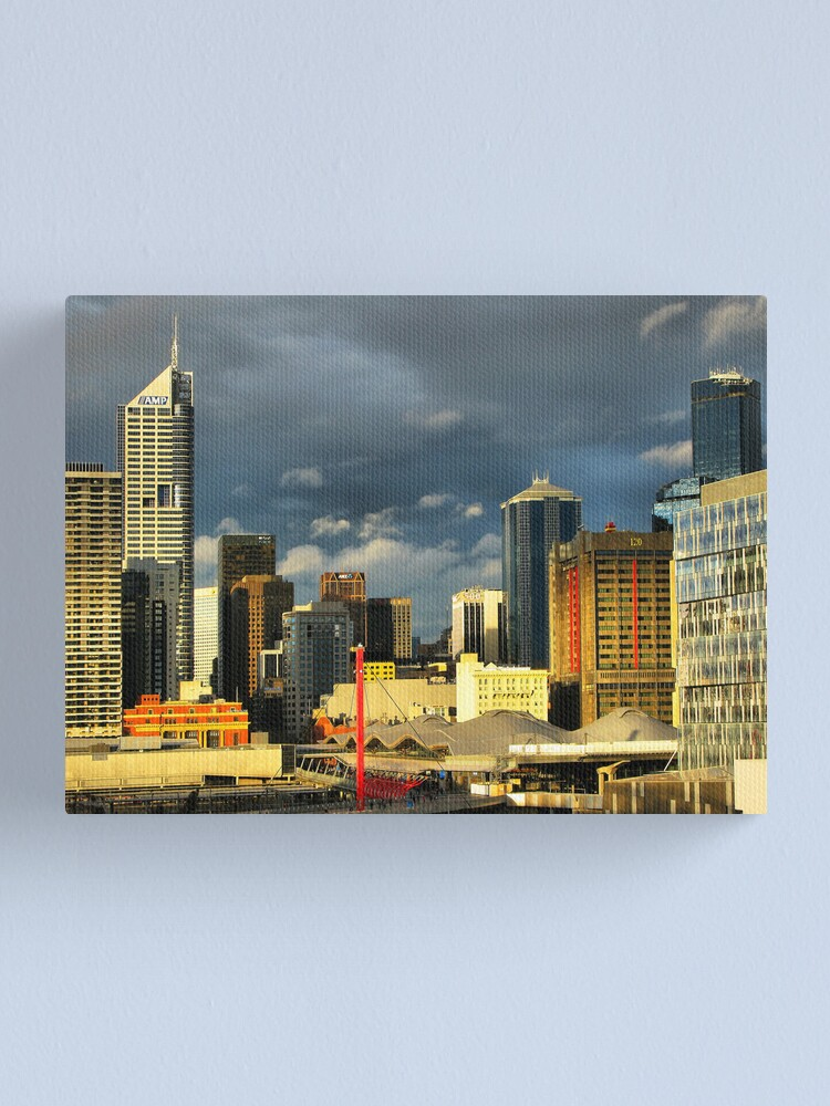 Alternate view of Golden city Canvas Print