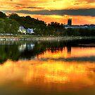 Sunset over Boston College by LudaNayvelt