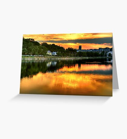 Sunset over Boston College Greeting Card
