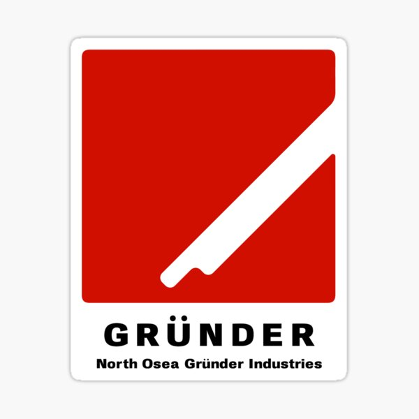Ace Combat Grunder Industries Sticker