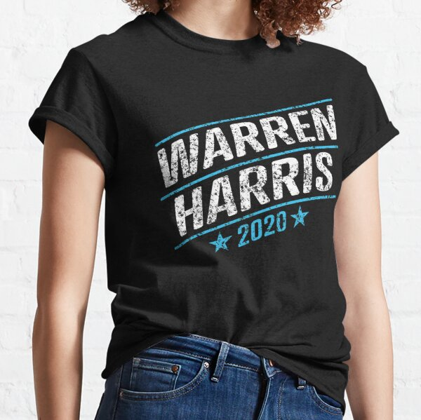 Elizabeth Warren and Kamala Harris on the one ticket? Dare to dream. Presidential race 2020 Distressed text  Classic T-Shirt