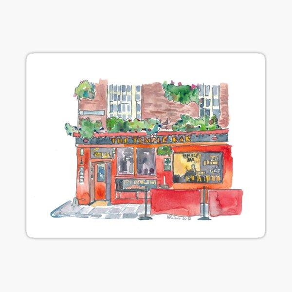 Ireland Dublin The Temple Bar Street Scene Sticker