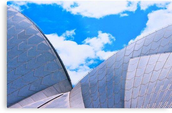Opera House Double Sail by Ronald Rockman