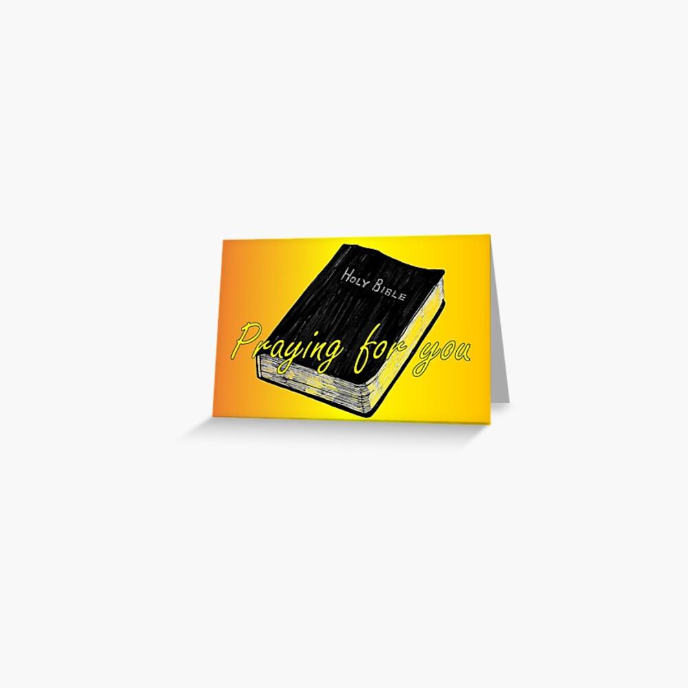 Bible - Praying for You Card Greeting Card