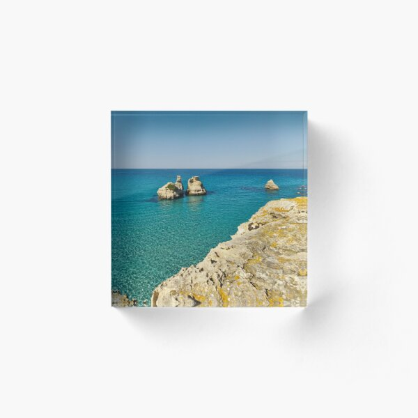 Two sisters -- Summer in Salento Acrylic Block