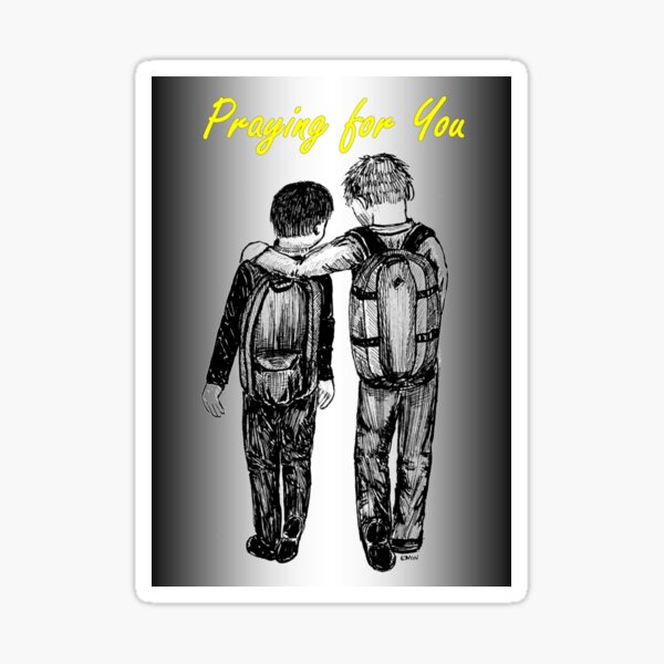 Good Friends - Praying for You Card Sticker