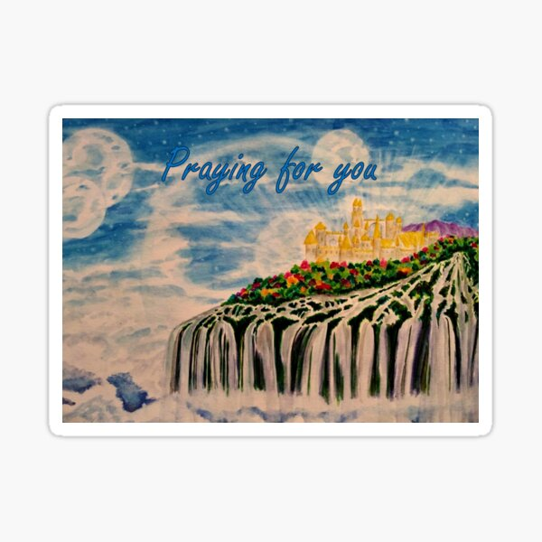Castle in the Sky - Praying for You Card  Sticker