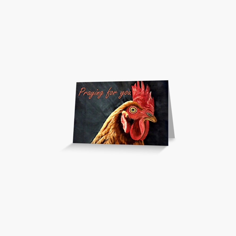 Little Red Hen - Praying for You Card  Greeting Card