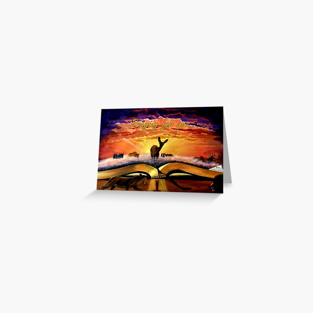 The Hind of the Dawn - Psalm 22 - Praying for You Card Greeting Card