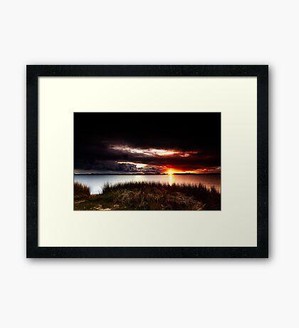 Stormy Sunset Framed Print