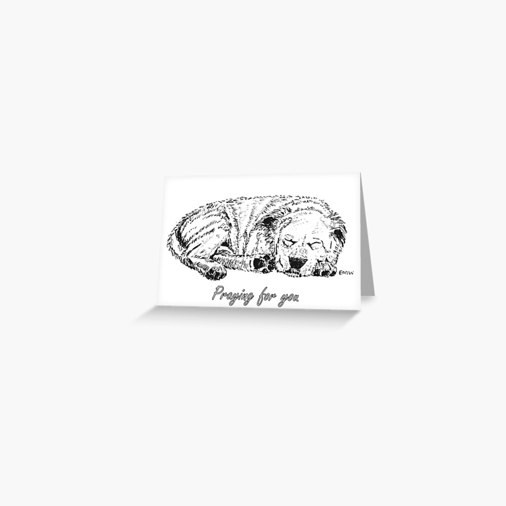 Let Sleeping Dogs Lie - Praying for You Card Greeting Card
