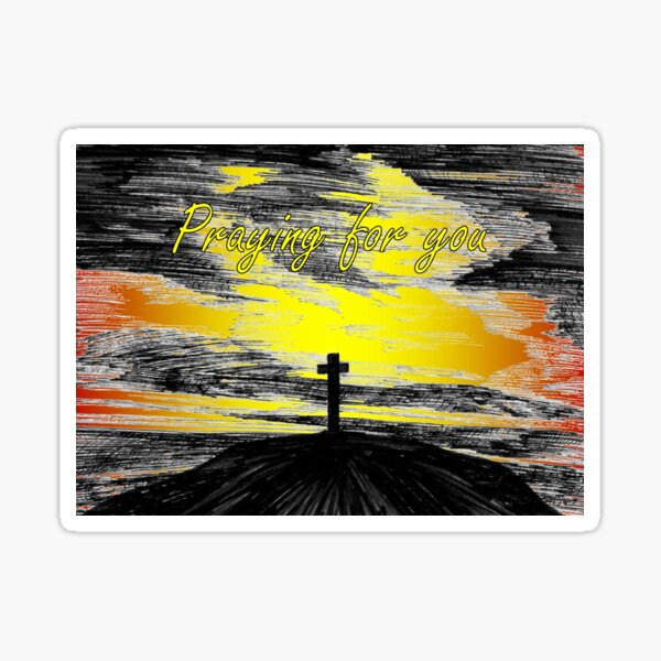 The Cross - Praying for You Card Sticker