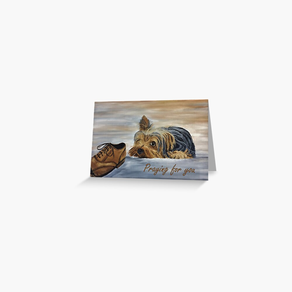 Yorkshire Terrier - Praying for You Card Greeting Card