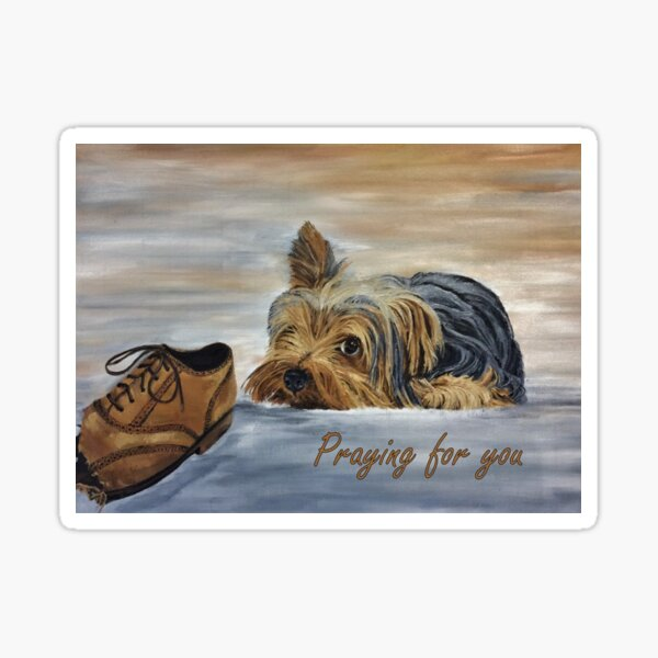 Yorkshire Terrier - Praying for You Card Sticker