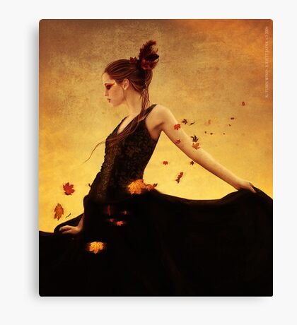 autumn wind Canvas Print