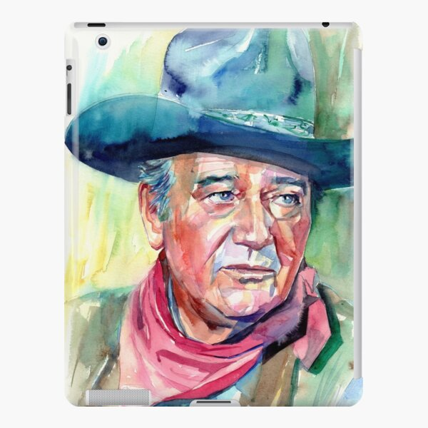 John Wayne Portrait iPad – Leichte Hülle