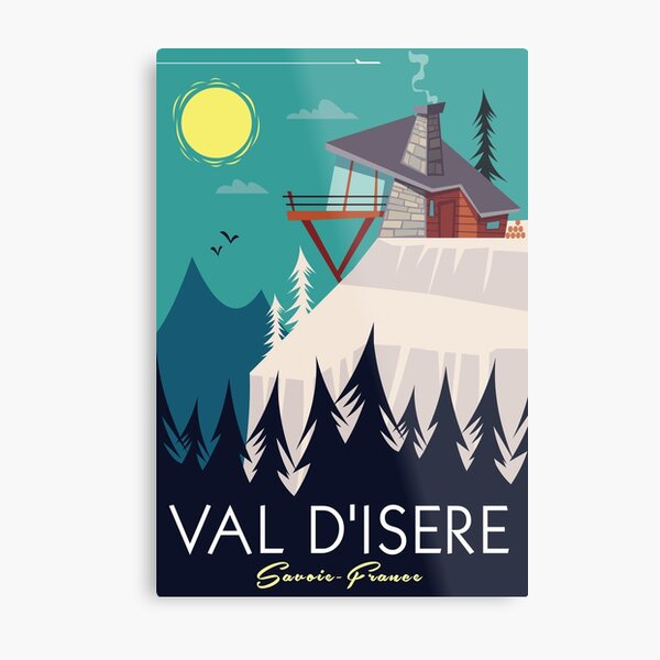Val D'Isere Poster Metal Print