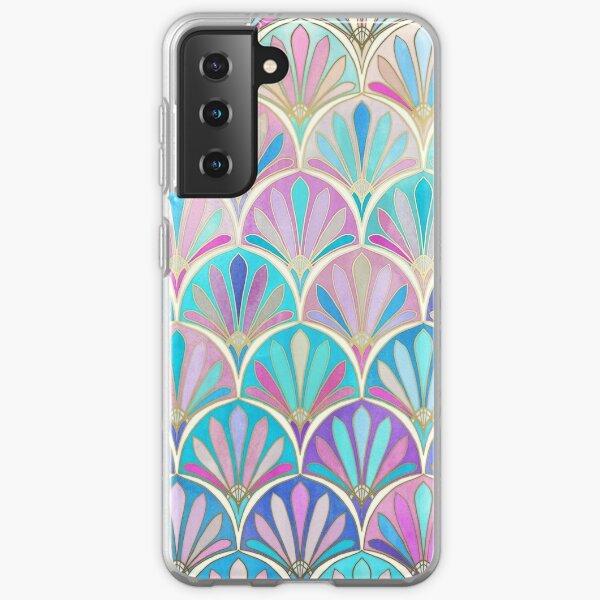 Glamorous Twenties Art Deco Pastel Pattern Samsung Galaxy Soft Case
