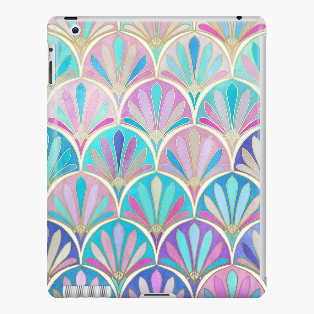 Glamorous Twenties Art Deco Pastel Pattern Ipad Case Skin By