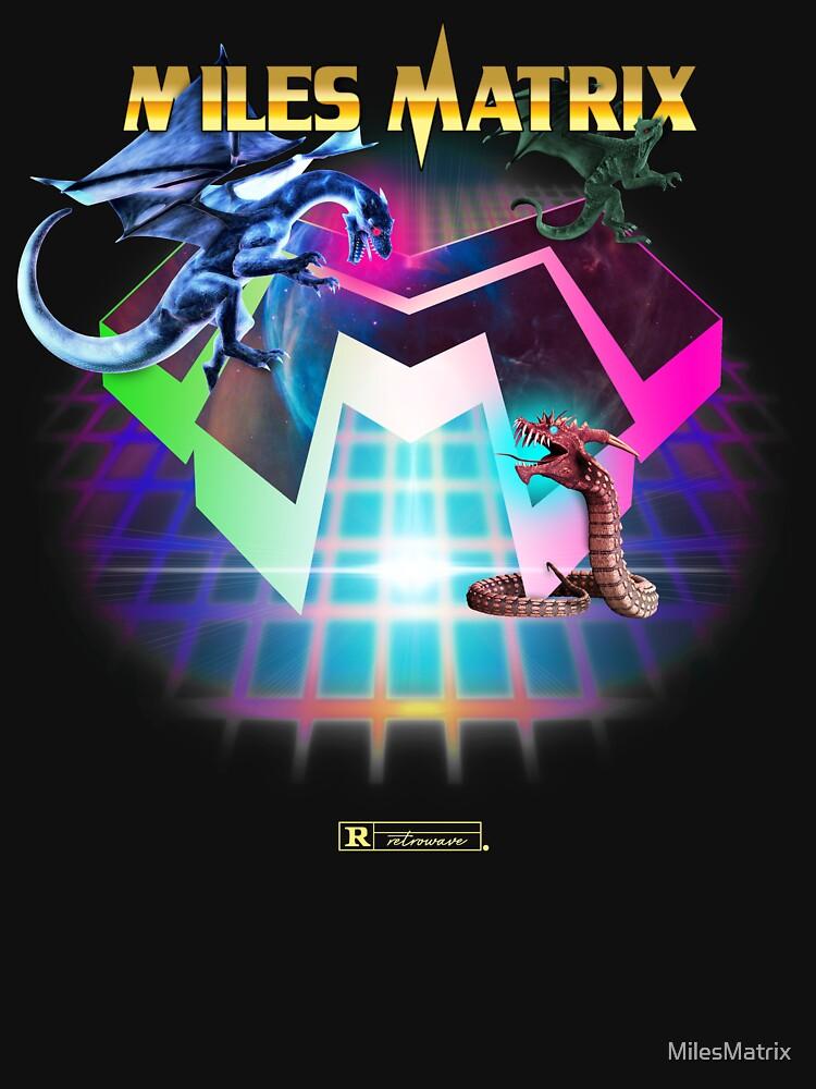 """Miles Matrix """"The Power of Synthwave"""" von MilesMatrix"""