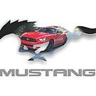 Ford Mustang Logo Design (on white) by TheCartist