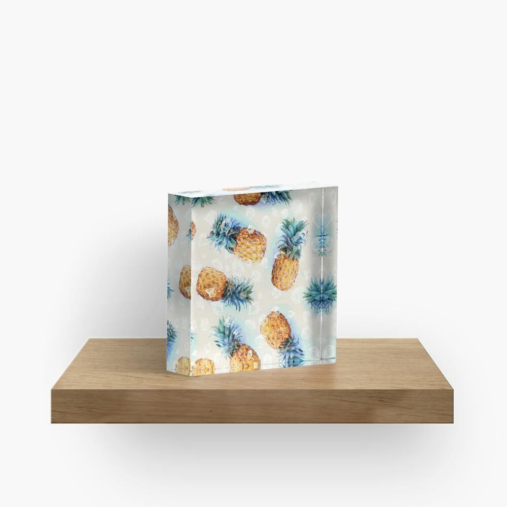 Pineapples + Crystals Acrylic Block