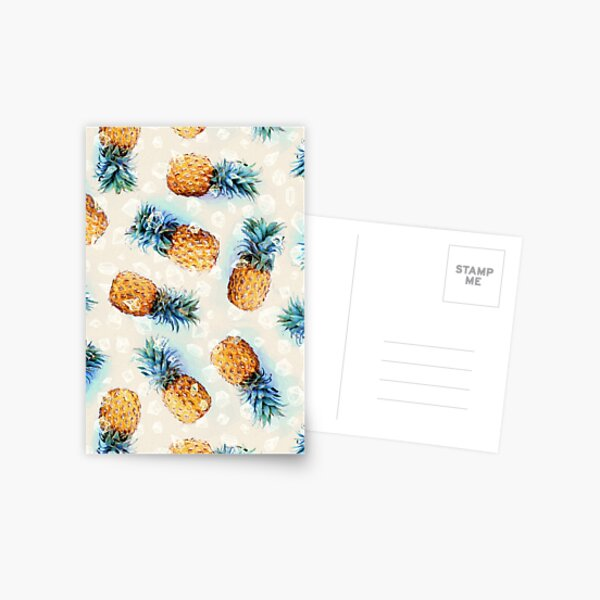 Pineapples + Crystals Postcard