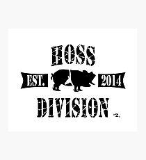 HOSS DIVISION EST. 2014 (WHITE) Photographic Print