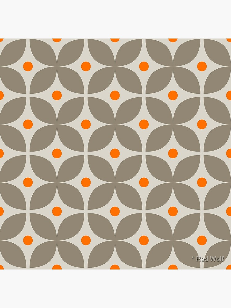 Geometric Pattern: Stylised Flower: Grey by redwolfoz