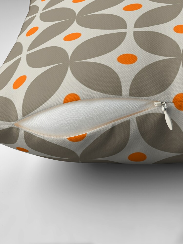Alternate view of Geometric Pattern: Stylised Flower: Grey Throw Pillow